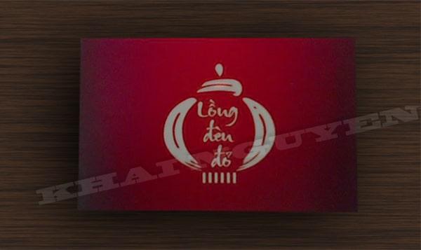 Mẫu thiết kế logo lồng đèn đỏ - bộ nhận diện thương hiệu nhà hàng