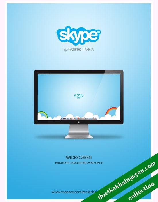 Bộ wallpaper của skype