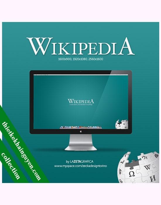 Mẫu thiết kế wallpaper của thư viện trực tuyến hàng đầu thế giới - wikipedia