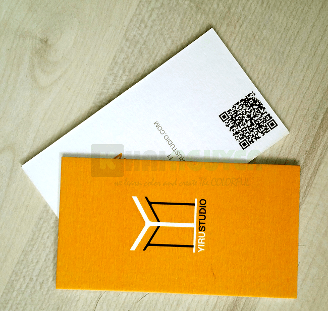Mẫu card visit bồi bằng giấy boheme
