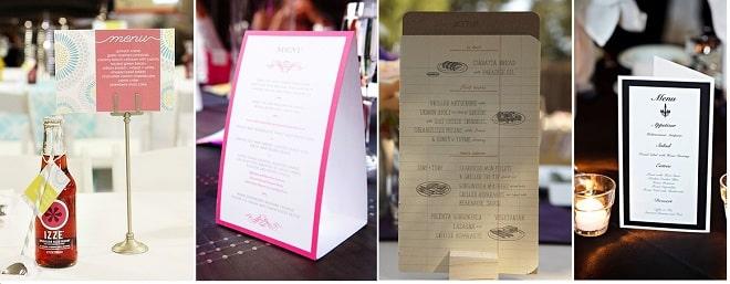 Thiết kế thực đơn để bàn