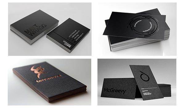 business-card màu đen đẹp - ấn tượng