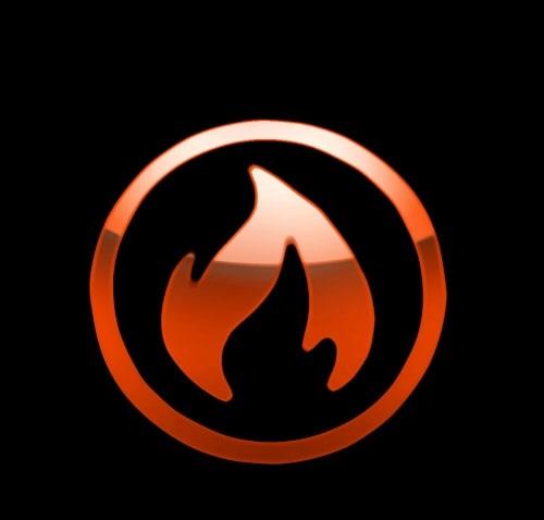 Logo hành hỏa đơn giản