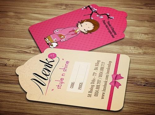Mẫu thiết kế thẻ treo hình chuông phong cách nhật bản