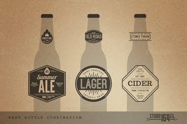 Thiết kế logo bia với phong cách cổ điển