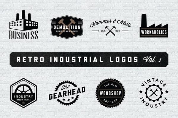 Những mẫu thiết kế logo công nghiệp theo phong cách vintage