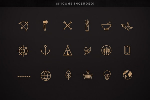 Những logo được thiết kế theo phong cách line art cổ điển