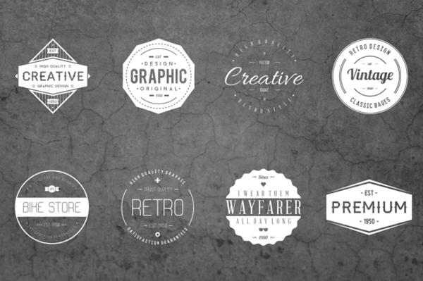Thiết kế logo vintage dạng phù hiệu