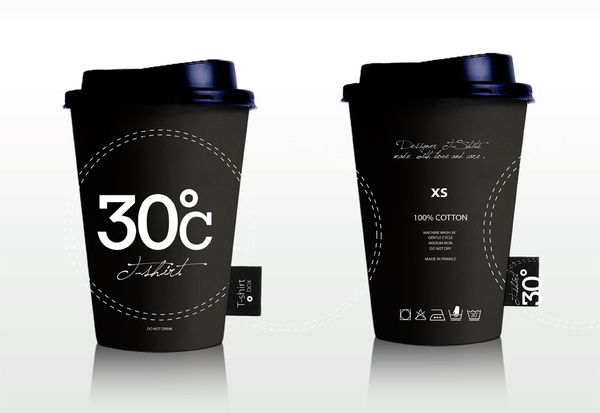 Mẫu thiết kế logo cafe 30c - đen và trắng