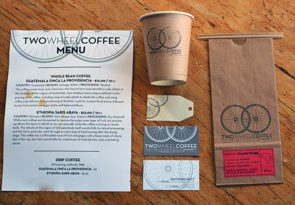 Bộ nhận diện thương hiệu Two Wheel Coffee
