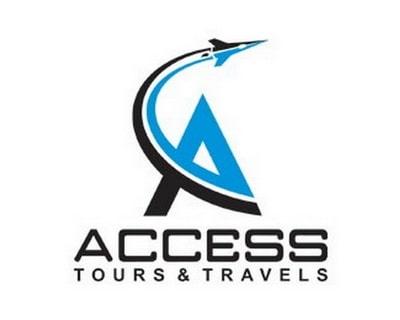Mẫu thiết kế logo du lịch của công ty Access tours & travels