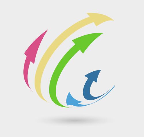 Mẫu thiết kế logo có dạng tuần hoàn