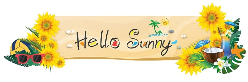 Cổng chào hello sunny bồi formax dày 3mm