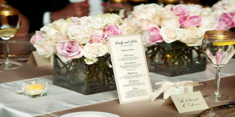 Menu thực đơn đám cưới tại Ý