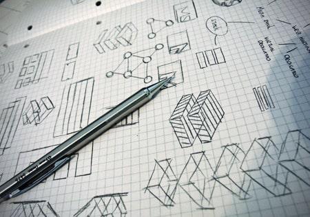 Bản nháp phát họa logo