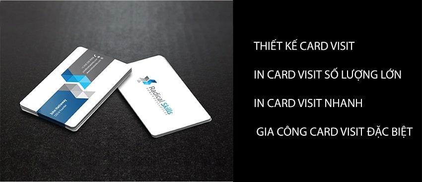 Thiết kế card visit song ngữ