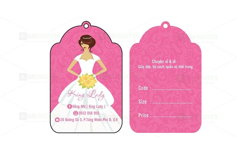Mẫu thiết kế thẻ treo shop thời trang - Lady King