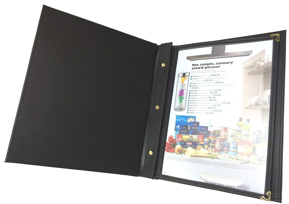 Làm menu đóng ốc trong - dạng menu da kết hợp với bìa kính