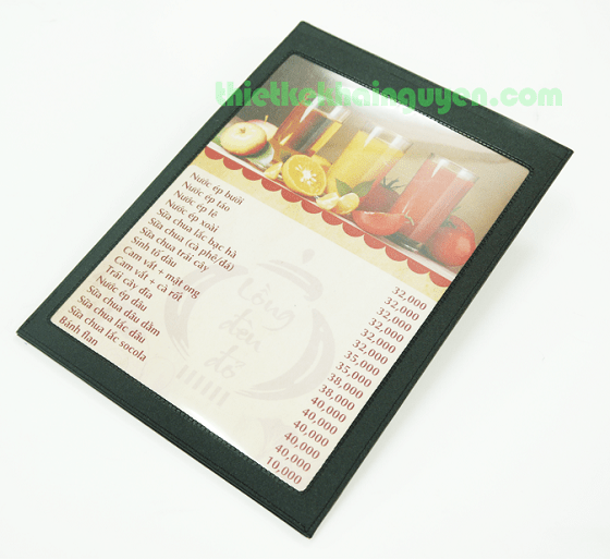 Menu leather holder two sided