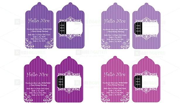 Thiết kế thẻ treo ấn tượng cho shop thời trang