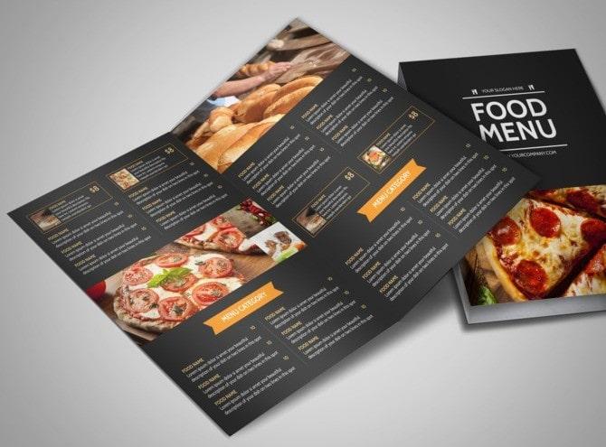 Thiết kế menu tờ rơi đạc biệt và ấn tượng