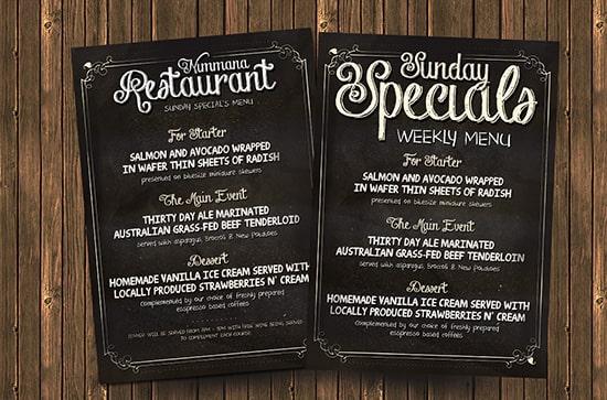 Thiết kế tờ rơi menu đặc biệt