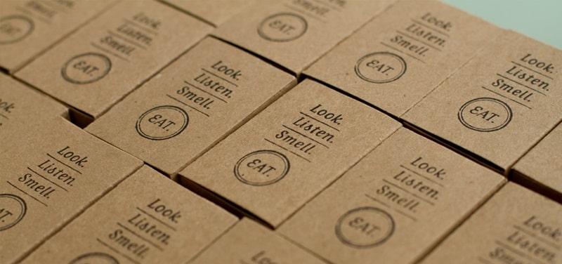 In card visit giấy kraft cực đẹp