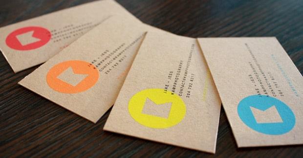 In name card giấy kraft mang phong cách cổ điển