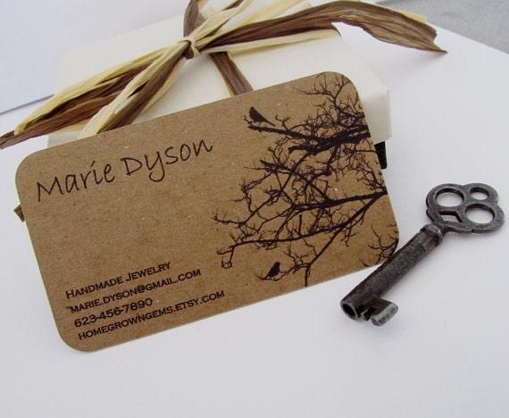 In card visit giấy kraft với màu đen thuần cực đẹp