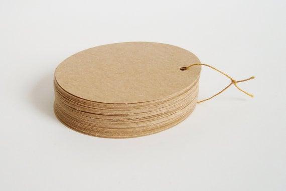 Mẫu thẻ treo kraft hình tròn đơn giản