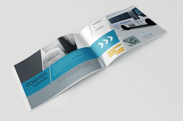 Nội dung thiết kế brochure của Saptco BUS