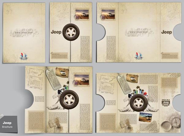 Mẫu thiết kế brochure bế hình dạng đặc biệt