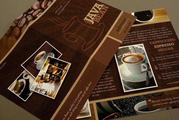 Mẫu thiết kế tờ rơi quán cafe in trên giấy mỹ thuật cực đẹp