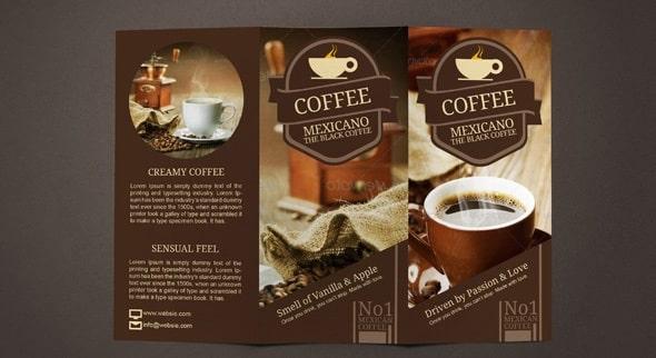 Mẫu thiết kế tờ rơi quảng cáo cafe cực đẹp