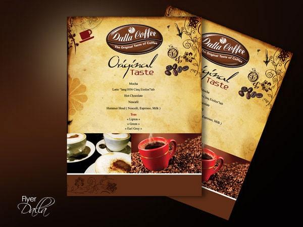 Mẫu thiết kế tờ quảng cáo cafe phong cách vintage