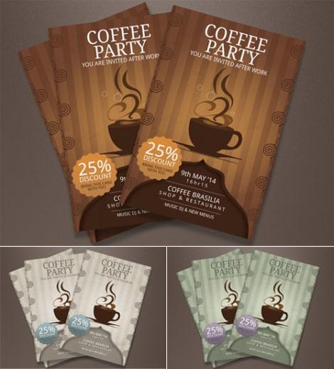 Mẫu thiết kế tờ rơi coffee giảm giá ấn tượng