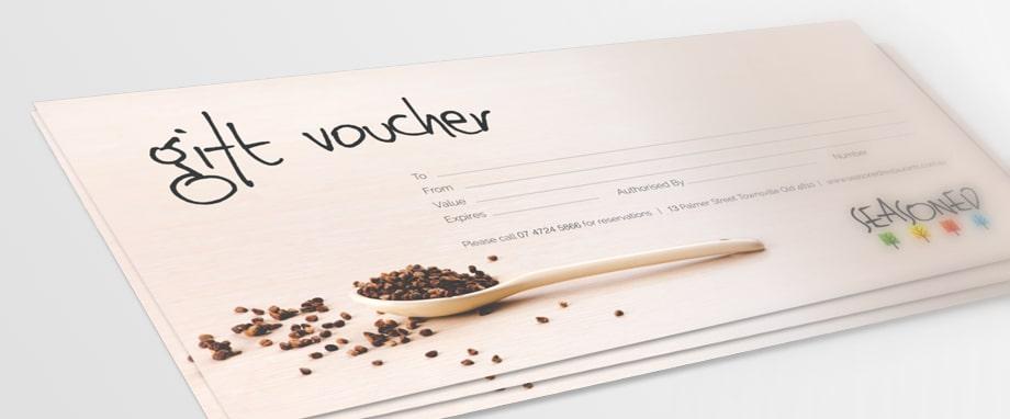 Mẫu thiết kế voucher ẩm thực đặc sắc