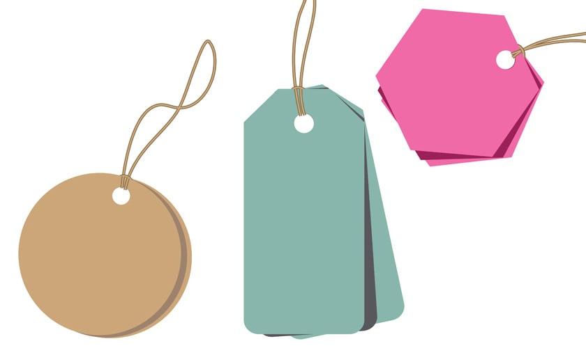 Một số gợi ý hình dạng làm thẻ treo đôi