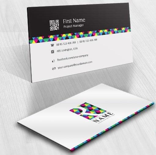 mẫu card visit trừu tượng