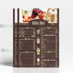 Làm menu bìa bồi carton cực bền
