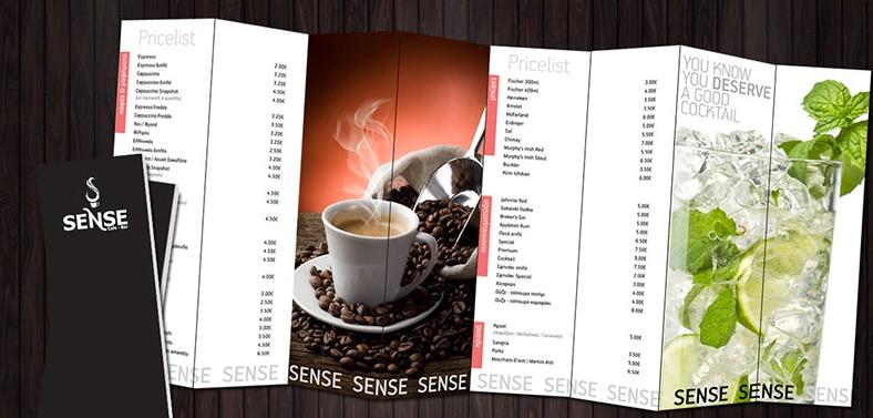 Mẫu thiết kế menu cafe cực đẹp từ Khải Nguyên