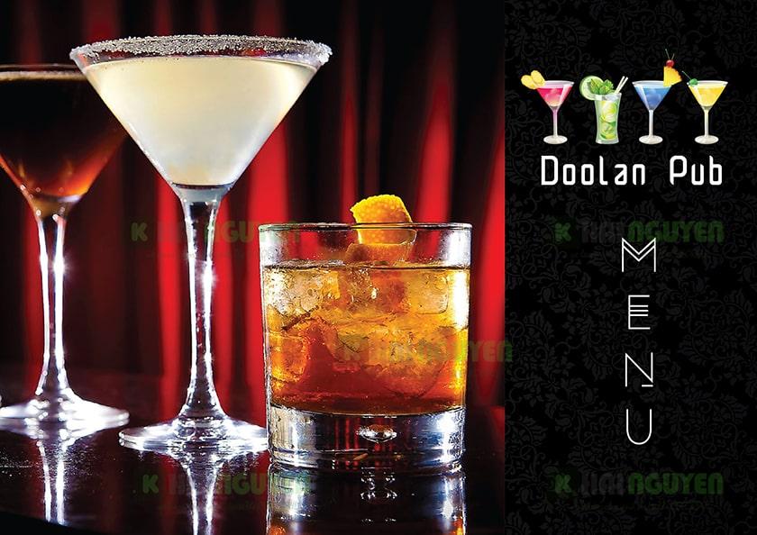 Mẫu thiết kế menu cafe doolan mang phong cách âu