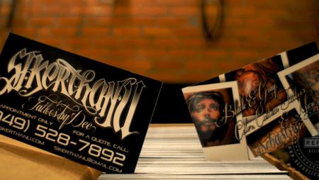 Tattoo card visit – đậm chất nghệ sĩ xăm trổ