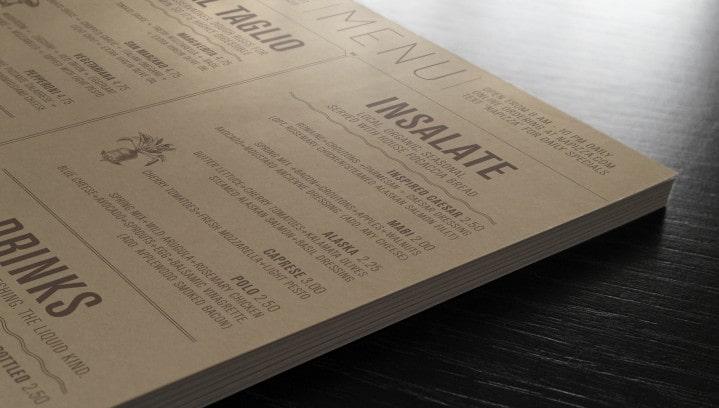 In menu kraft cực đẹp - làm menu cổ điển