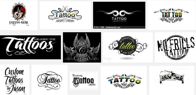 Thiết kế logo tattoo xăm mình nghệ thuật.