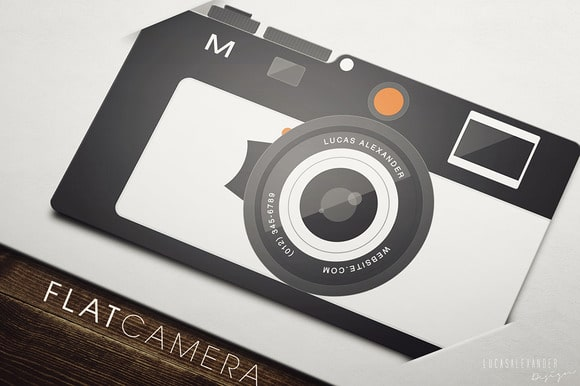 Mẫu in namecard hình chiếc máy ảnh