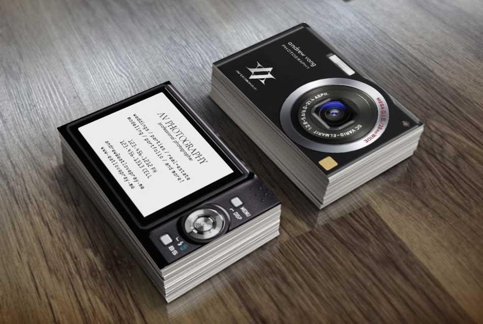 Thiết kế danh thiếp sáng tạo dành cho nhiếp ảnh gia