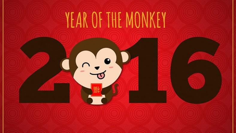 Template thiết kế bao lì xì dễ thương cho năm khỉ