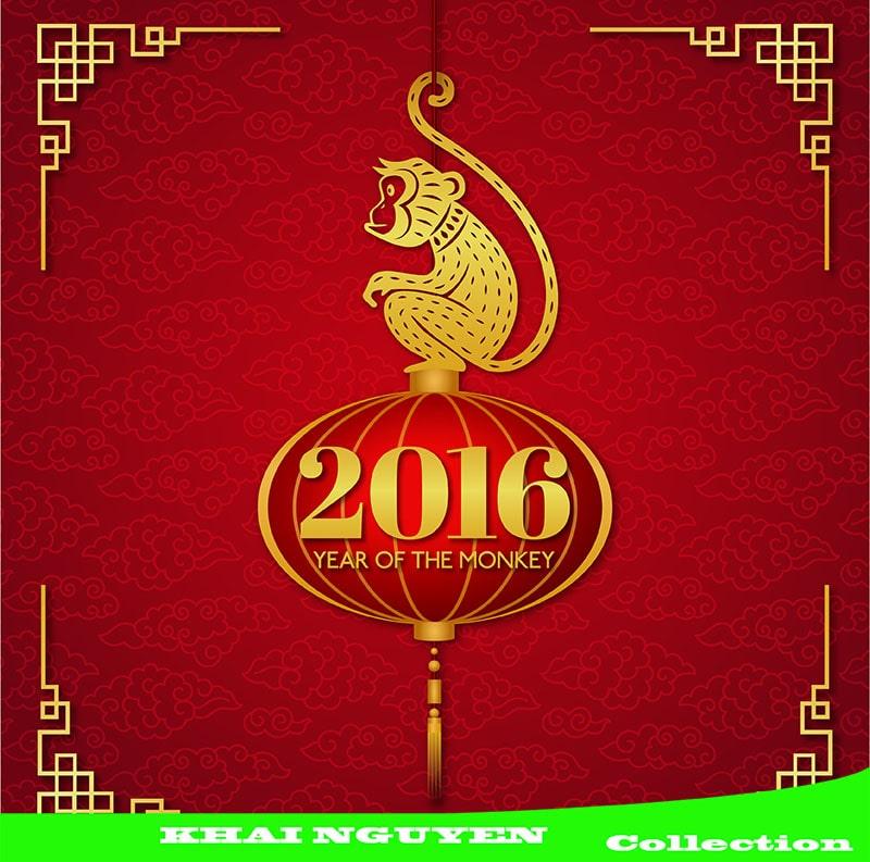 Thiệp chúc mừng cho năm 2016