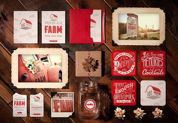 Bộ nhận diện đẹp - bộ nhận diện Fresh-Air-Farm